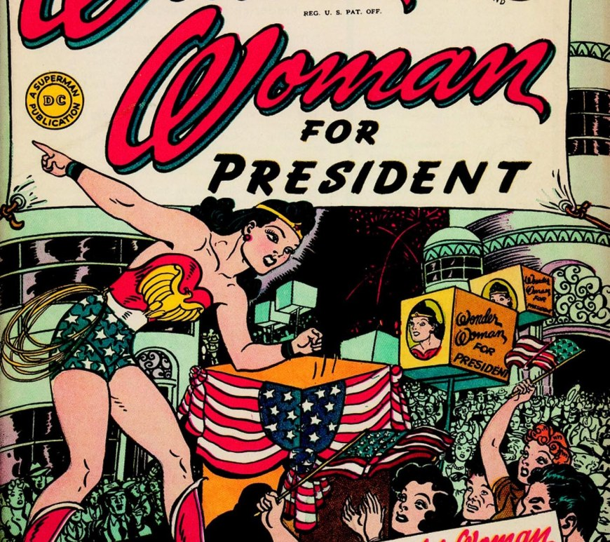 wonder woman president féministe modèle fille garçon empowerment