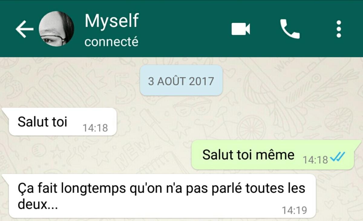 Conversation avec moi-même