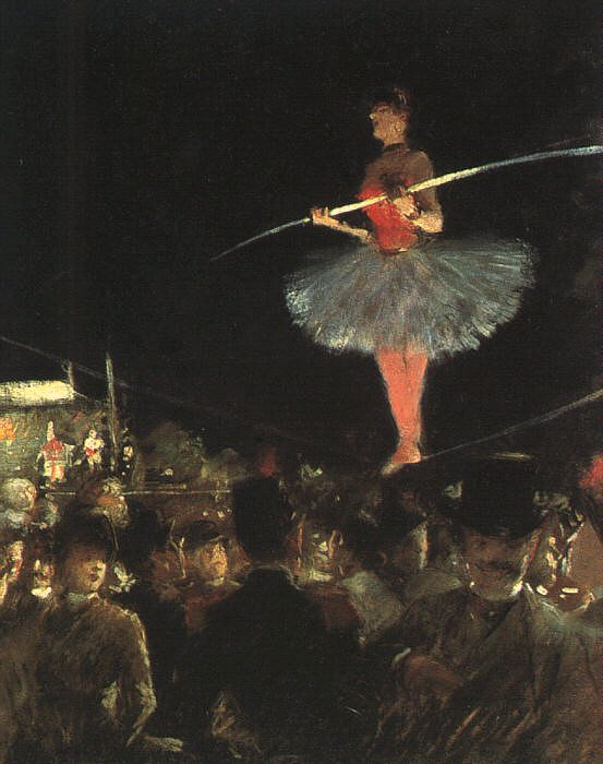 The Tightrope Walker by Jean-Louis Forain